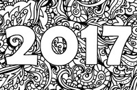 Art Therapy coloring page New Year 2017