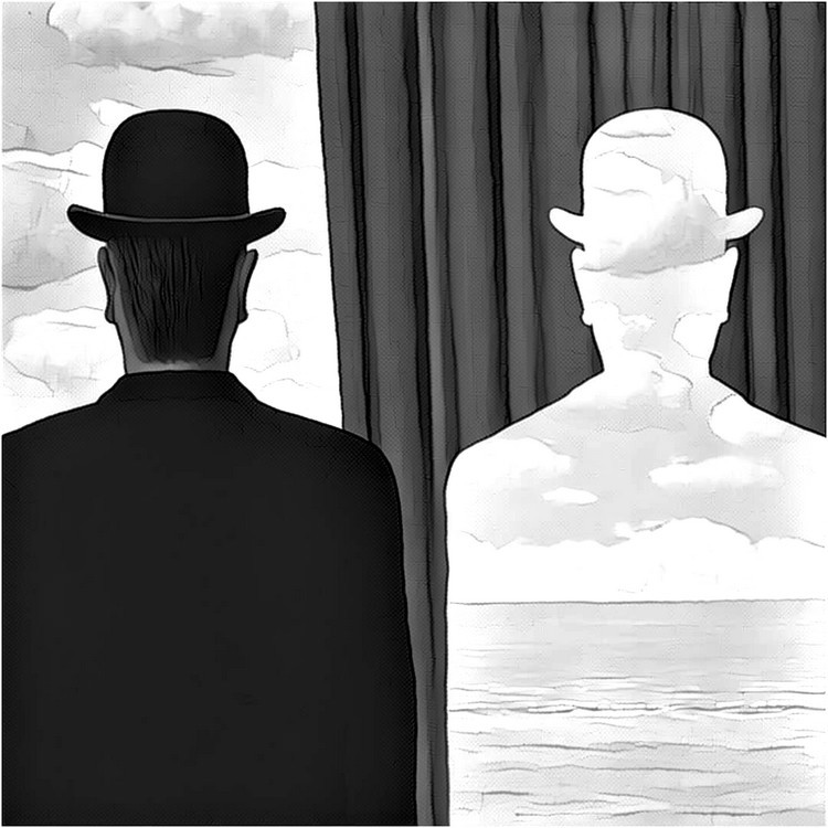 Art Therapy coloring page Magritte