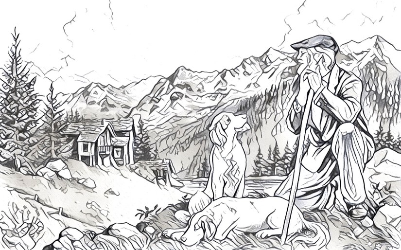 malvorlage berglandschaft  coloring and malvorlagan