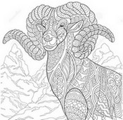 Art Therapy coloring page Ibex