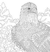 Art Therapy coloring page Eagle