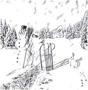 Art Therapy coloring page Snowman