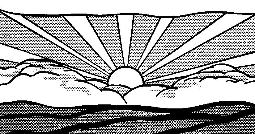 Ausmalen Erwachsene Roy Lichtenstein : die Sonne 5