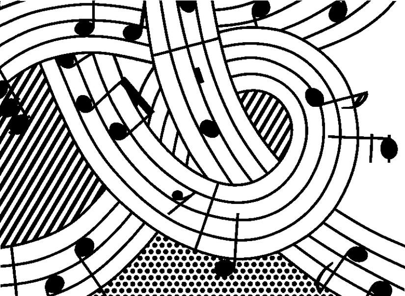 ausmalen als antistress roy lichtenstein  music 7