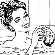 Art Therapy coloring page In the bath