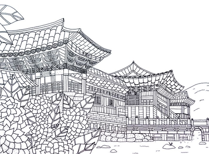 Art Therapy Coloring Page South Korea 15rhcoloringlife: Korean Coloring Pages For Adults At Baymontmadison.com