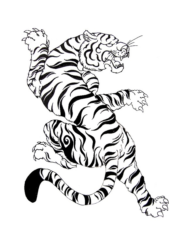 Adult Coloring Page South Korea White Tiger 16