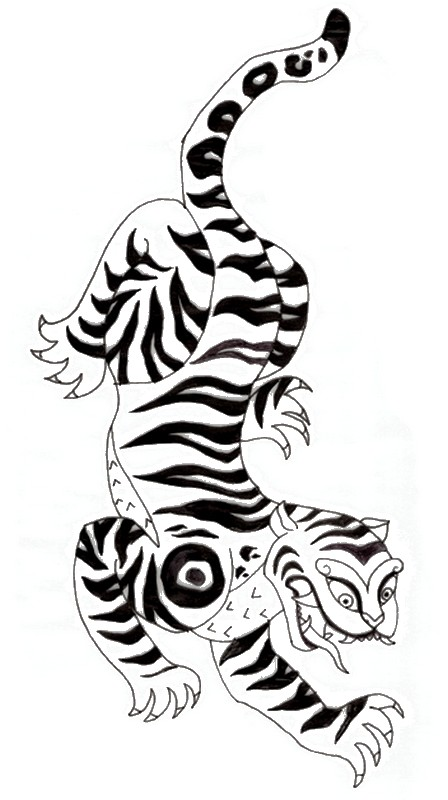 Tiger Coloring Page Animal Coloring Page   PicGifs.com   800x448