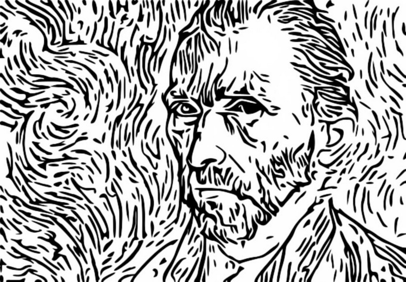 Anti Stress Coloring Pages Van Gogh