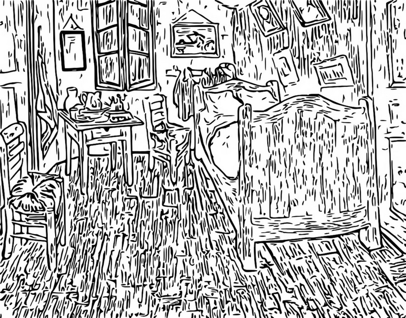 Disegni Da Colorare Per Adulti Van Gogh
