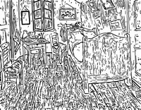 Art Therapy coloring page Bedroom