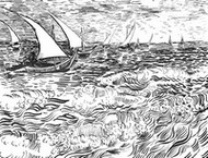Art Therapy coloring page The sea