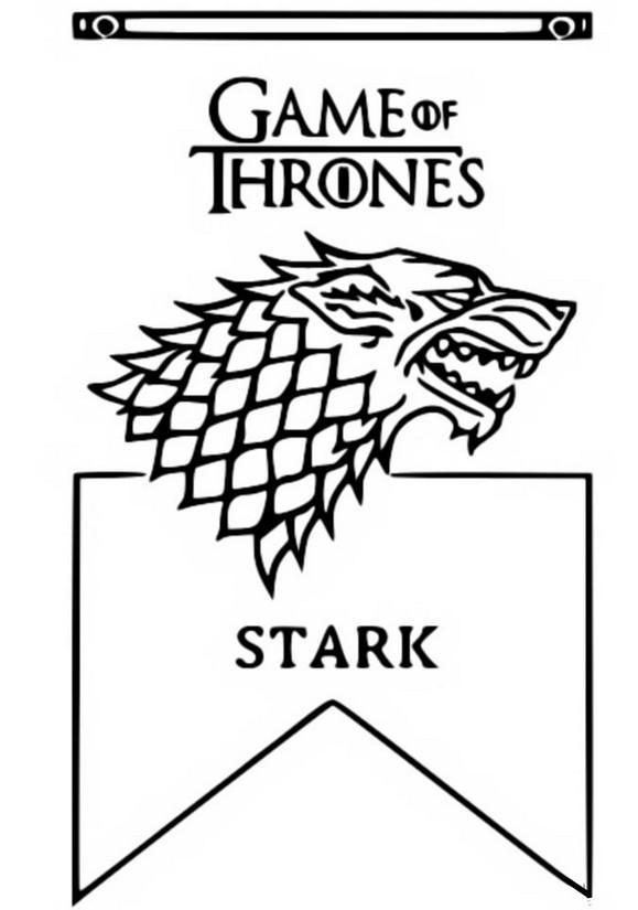 ausmalen als antistress game of thrones  stark 11