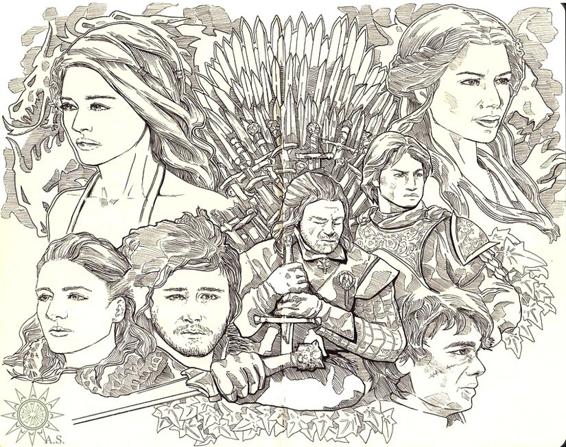 Art Therapy coloring page Game of Thrones