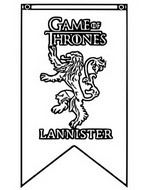 Coloriage anti-stress Lannister