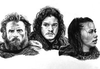 Desenho para colorir anti stress Game of Thrones