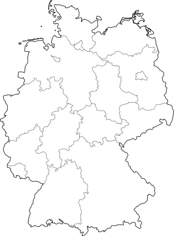 deutschlandkarte ausmalen Ausmalen als Anti Stress Deutschland : Deutschlandkarte 10