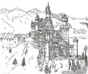 Art Therapy coloring page Neuschwanstein Castle