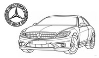 Disegno da colorar antistress Mercedes Benz