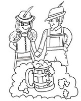 Art Therapy coloring page Oktoberfest - Beer Festival