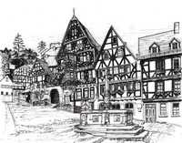 Art Therapy coloring page Village in Germany
