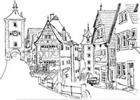 Disegno da colorar antistress Rothenburg