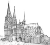Art Therapy coloring page Cologne Cathedral