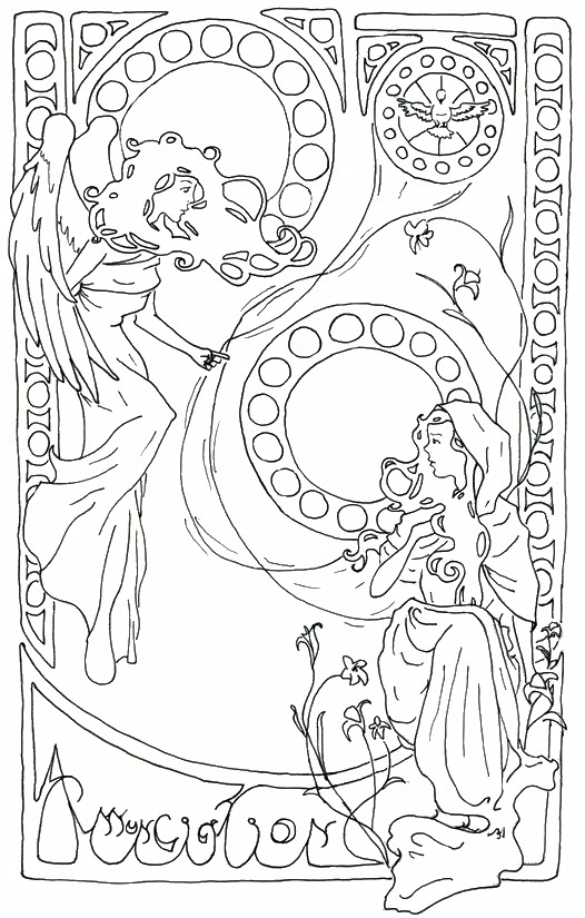 Coloriage Anti Stress Vierge Marie Assomption 1