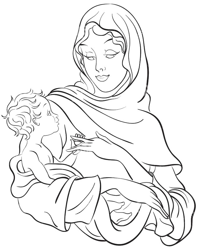 Coloriages Anti Stress Vierge Marie