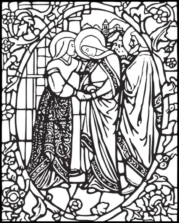 Stained Glass Coloring Pages for Adults - Best Coloring Pages For Kids | 750x603