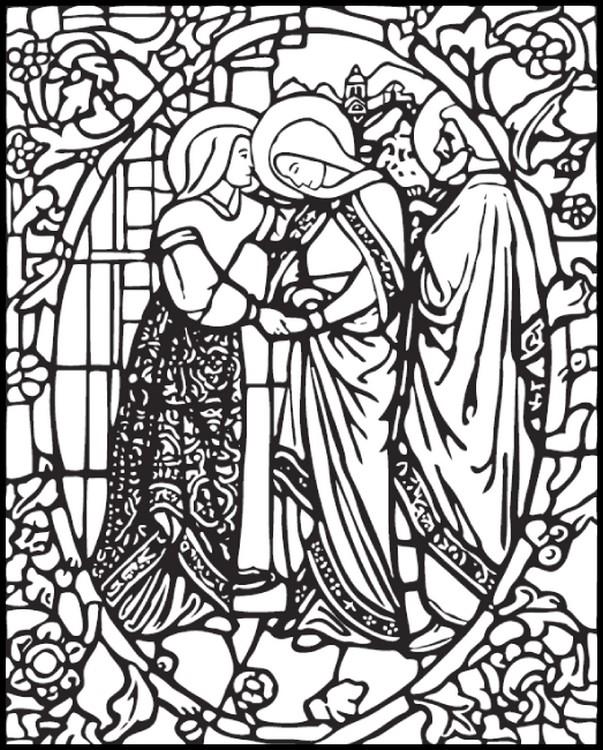Coloriage Anti Stress Vierge Marie Visitation De La Vierge