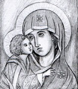 Art Therapy coloring page Mary and Jesus