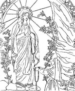Art Therapy coloring page Our Lady of Lourdes