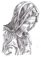 Art Therapy coloring page Virgin Mary