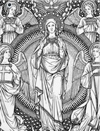Art Therapy coloring page Mary and the angels