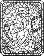 Art Therapy coloring page Stained glass Virgin Mary