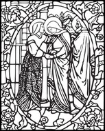 Art Therapy coloring page Visitation of the Virgin Mary