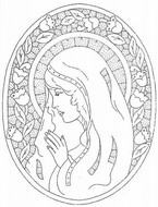 Art Therapy coloring page Holy Virgin