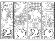 Art Therapy coloring page New year card 2020