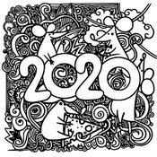 Art Therapy coloring page 2020 Year of the rat