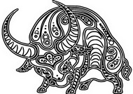 Art Therapy coloring page Year of the Ox