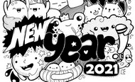 Art Therapy coloring page New Year 2021