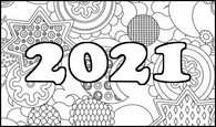 Art Therapy coloring page New Year