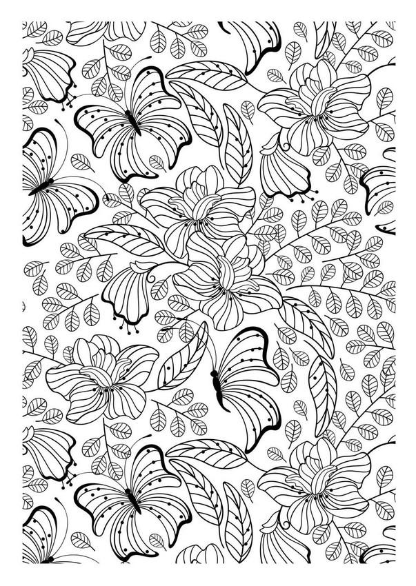 Ausmalen Erwachsene Tiere Schmetterlinge 1