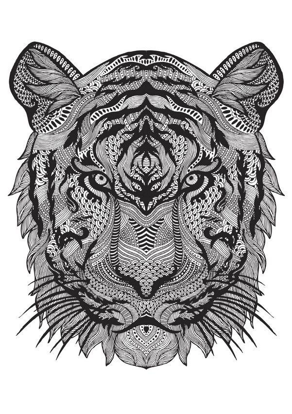 Tiger More Coloring Pages Animals