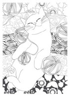 Art Therapy coloring page Cat