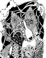 Adult coloring page Dog