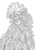 Art Therapy coloring page Rooster