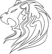 Art Therapy coloring page Lion