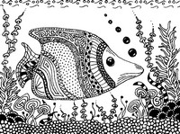 Adult coloring page Fish